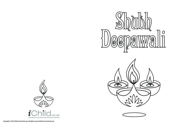 Thumbnail image for the Shubh Deepawali Card activity.