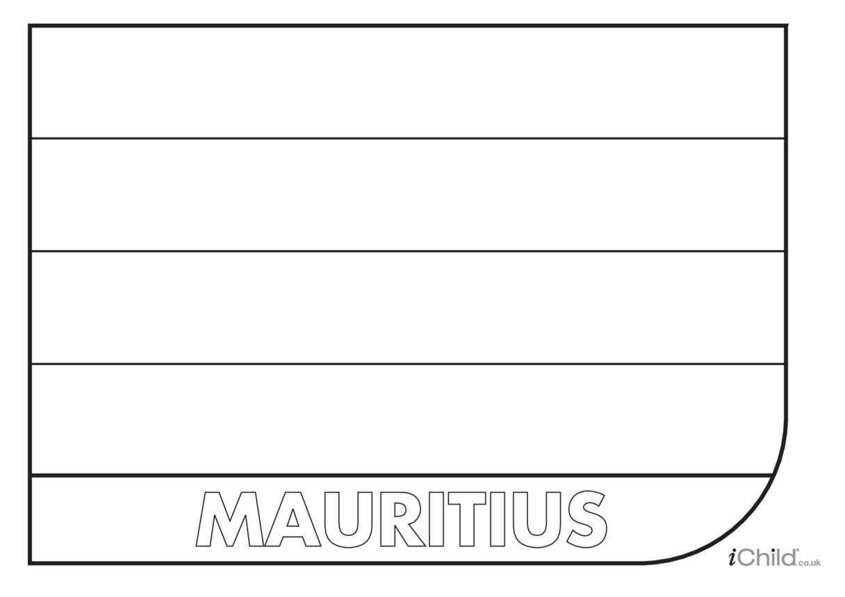 Mauritius Flag Colouring in Picture (flag of Mauritius)