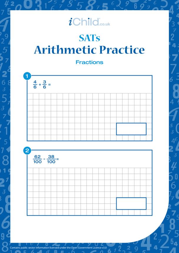 Arithmetic Practice: Fractions