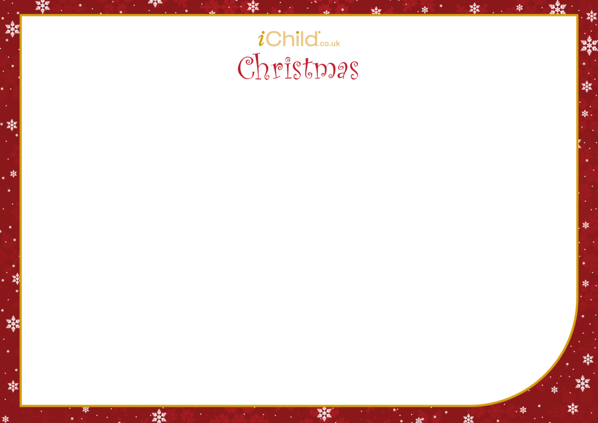 Christmas Blank Drawing Template