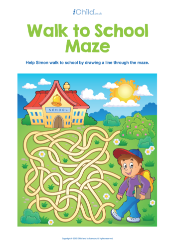 Thumbnail image for the Walk to School Maze activity.