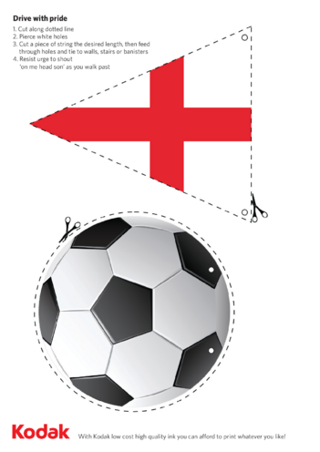 Thumbnail image for the England Football Bunting activity.