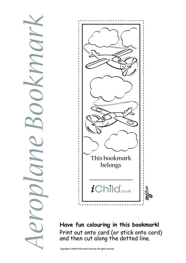 Aeroplane Bookmark