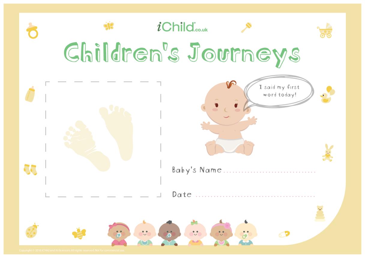 Children's Journeys: My First Word (yellow form)