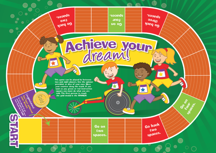Thumbnail image for the Early Years 5) Achieve Your Dream- Game A4 activity.