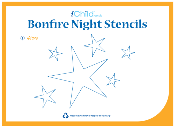 Thumbnail image for the Bonfire Night Stencils activity.