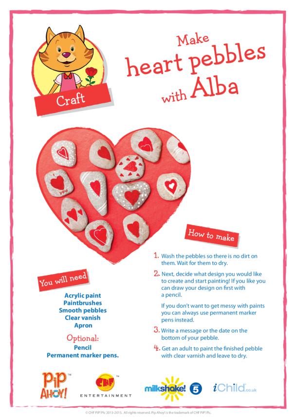 Make Heart Pebbles with Alba (Pip Ahoy!)