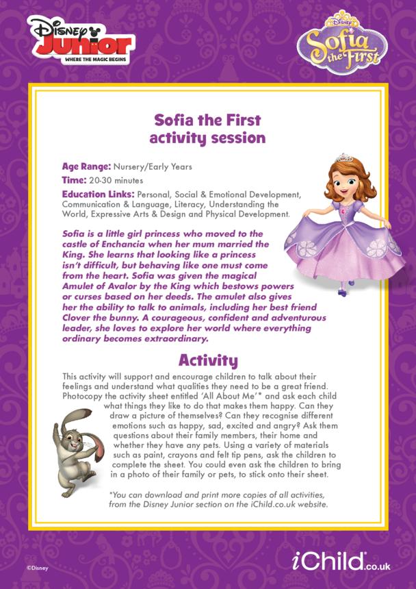 Sofia the First Activity Session- Disney Junior