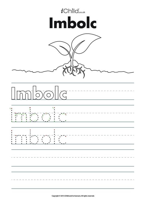 Imbolc Handwriting Practice Sheet