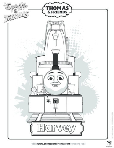 Thumbnail image for the Harvey Colouring in Picture (Thomas & Friends) activity.