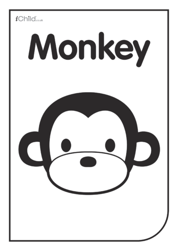 Thumbnail image for the Black & White Poster: Monkey Face activity.
