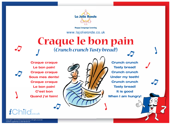 Thumbnail image for the Song in French activity.