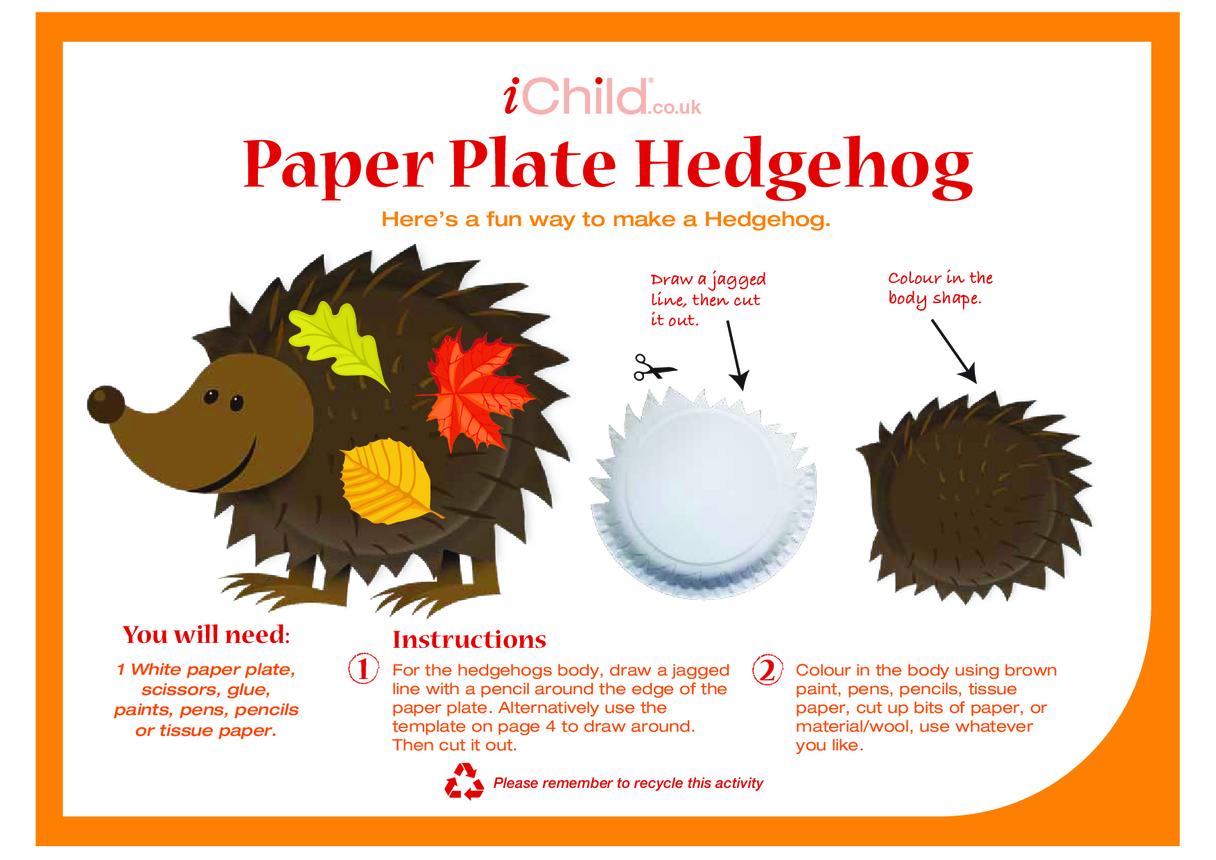 Hedgehog Paper Plate Craft