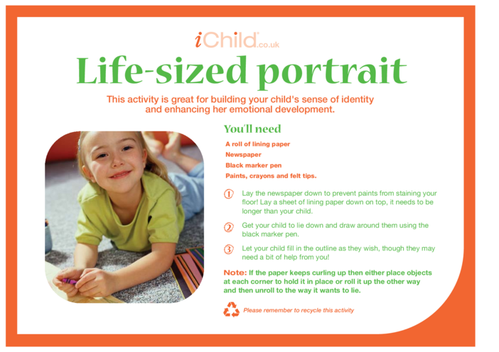 Thumbnail image for the Life Size Portrait activity.