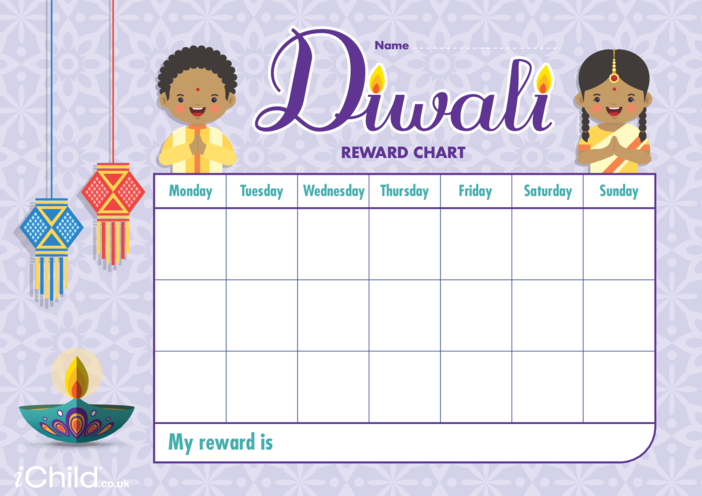 Thumbnail image for the Diwali Reward Chart activity.