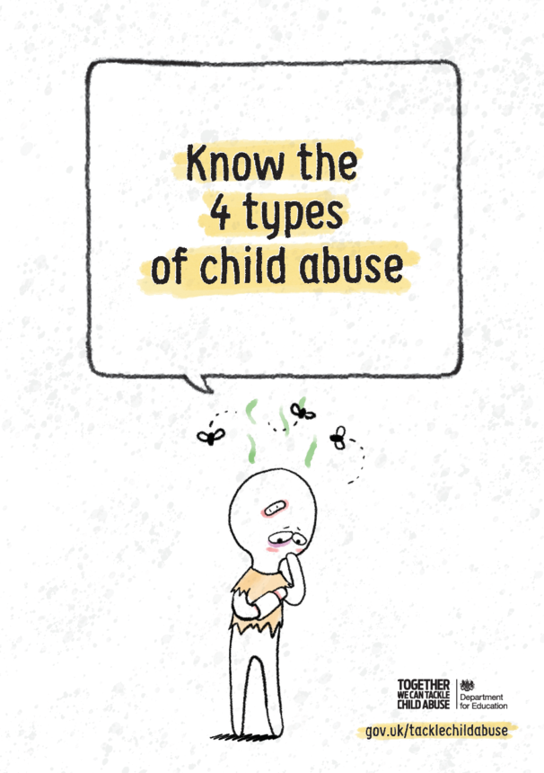 DfE: Know the 4 Types of Child Abuse - A4 Poster