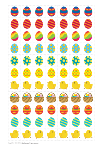 Thumbnail image for the Easter Reward Chart Stickers activity.