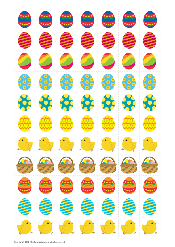 Easter Reward Chart Stickers