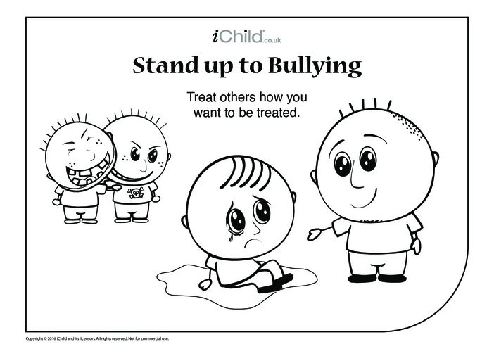 Thumbnail image for the Anti-Bullying Colouring in Picture activity.