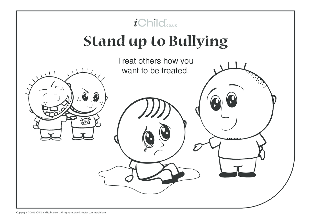 Anti-Bullying Colouring in Picture