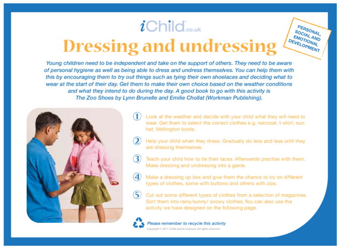 Thumbnail image for the Dressing & Undressing activity.