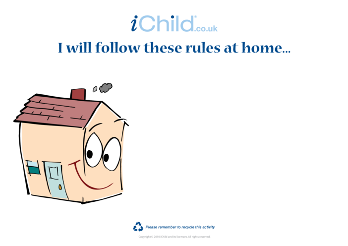 Thumbnail image for the Goal Setting- House Rules activity.