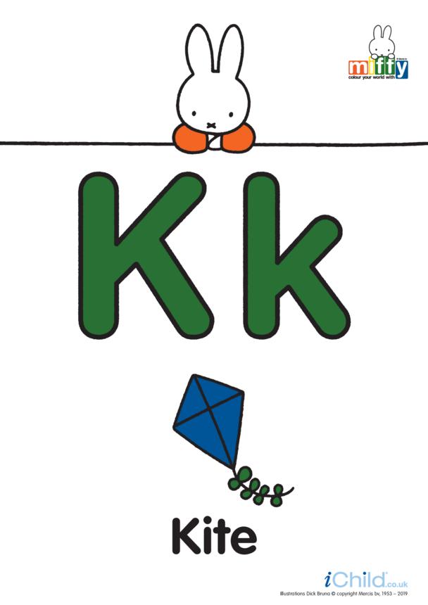 K: Miffy's Letter Kk (less ink)