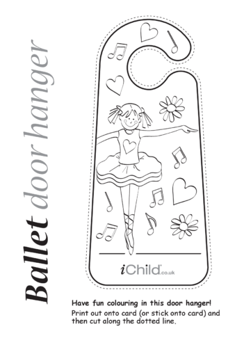 Thumbnail image for the Ballet Door Hanger activity.