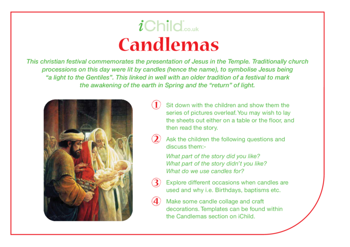 Thumbnail image for the Candlemas Religious Festival Story activity.