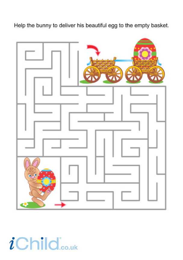 Easter Bunny Basket Maze