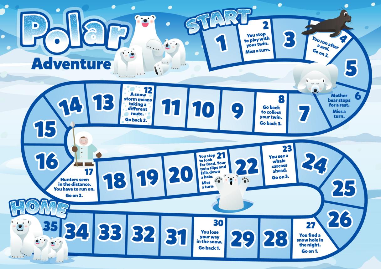 Primary 6) Polar & African Adventure- Polar Adventure Board Game