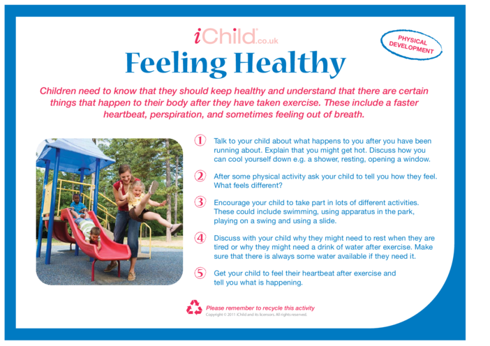 Thumbnail image for the Feeling Healthy activity.