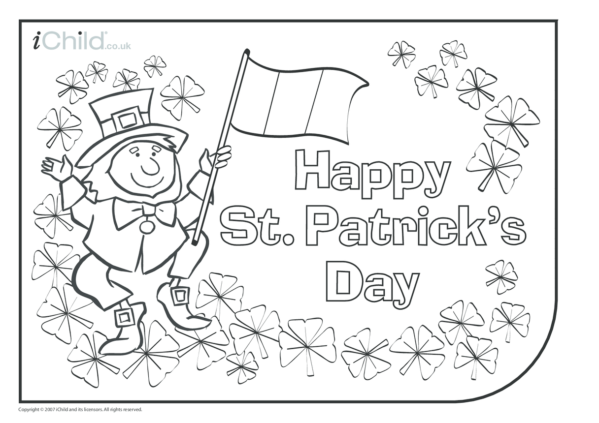 St. Patrick's Day Colouring in picture