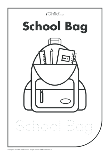 Thumbnail image for the School Bag: Colouring in & Handwriting activity.