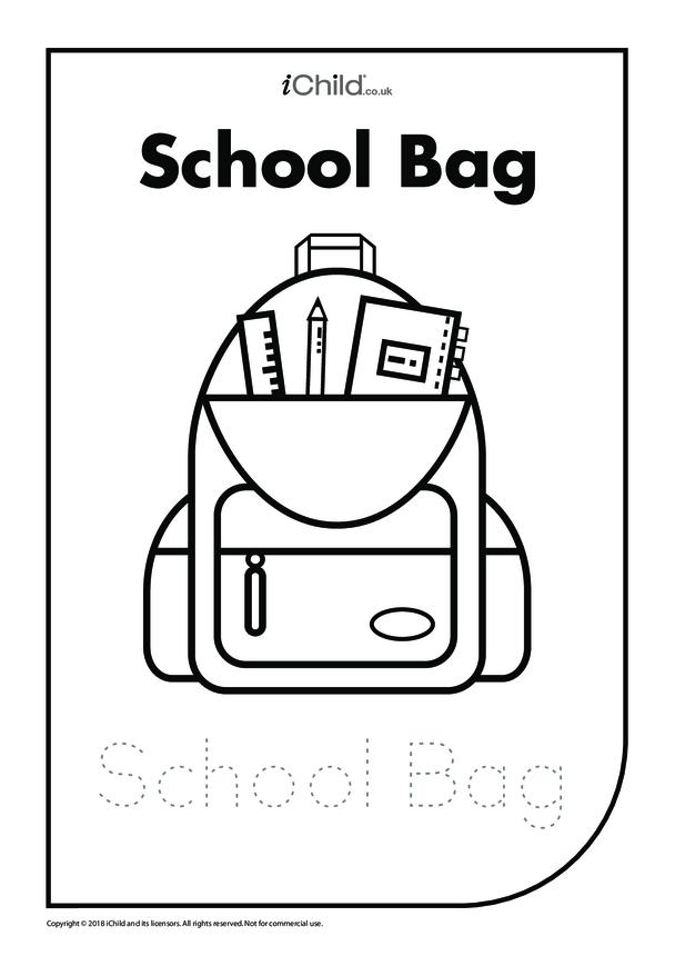 School Bag: Colouring in & Handwriting