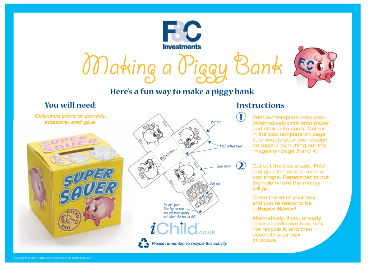 Make a Piggy Bank Money Box