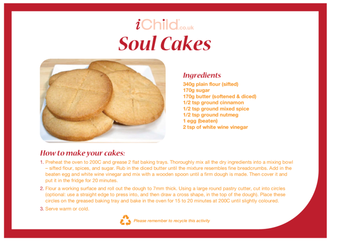 Thumbnail image for the Soul Cake Recipe activity.