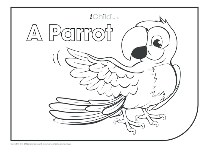 Thumbnail image for the A Parrot Colouring in Picture activity.