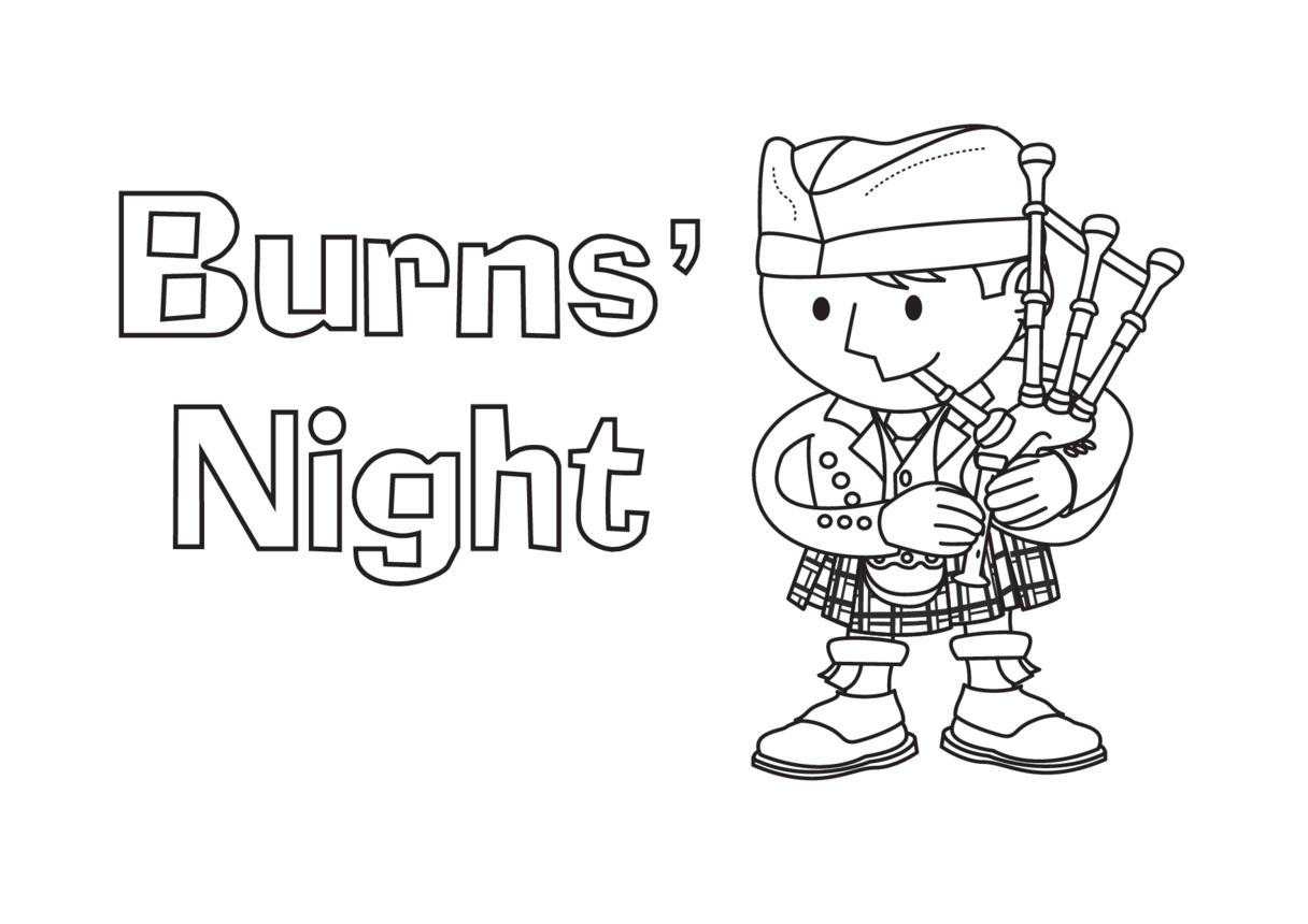 Burns' Night (black & white) - Signs & Posters