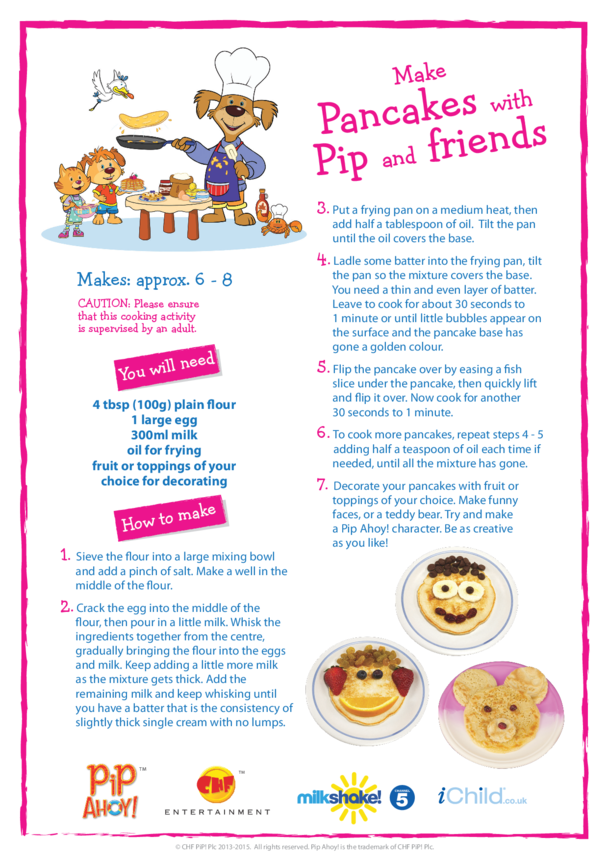 Make Pancakes with Pip (Pip Ahoy!)