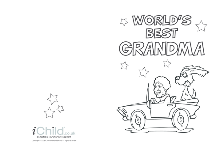 Thumbnail image for the Best Grandma Card activity.