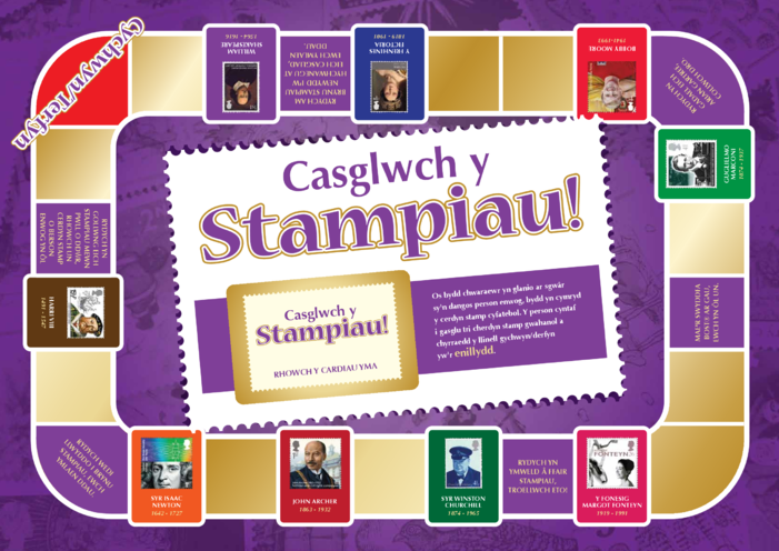 Thumbnail image for the 2013_Welsh Language Primary 5) Collect the Stamps! Game A4 activity.