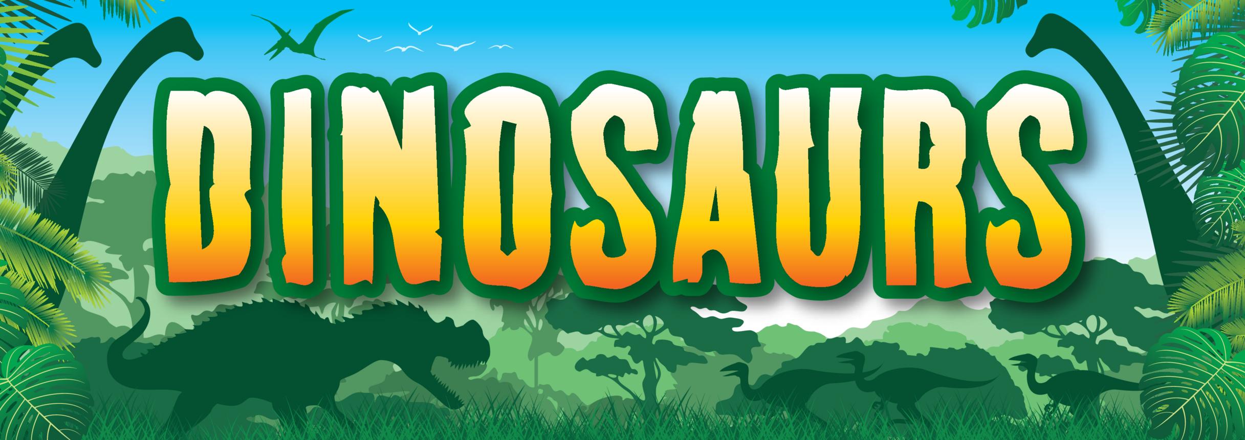 Dinosaurs Wall Display Banner A3