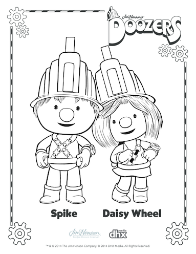 Thumbnail image for the Spike & Daisy Wheel Colouring in Picture (Doozers) activity.