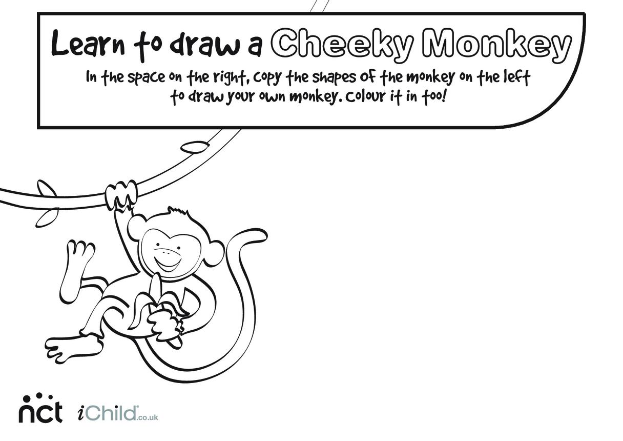 Cheeky Monkey Drawing
