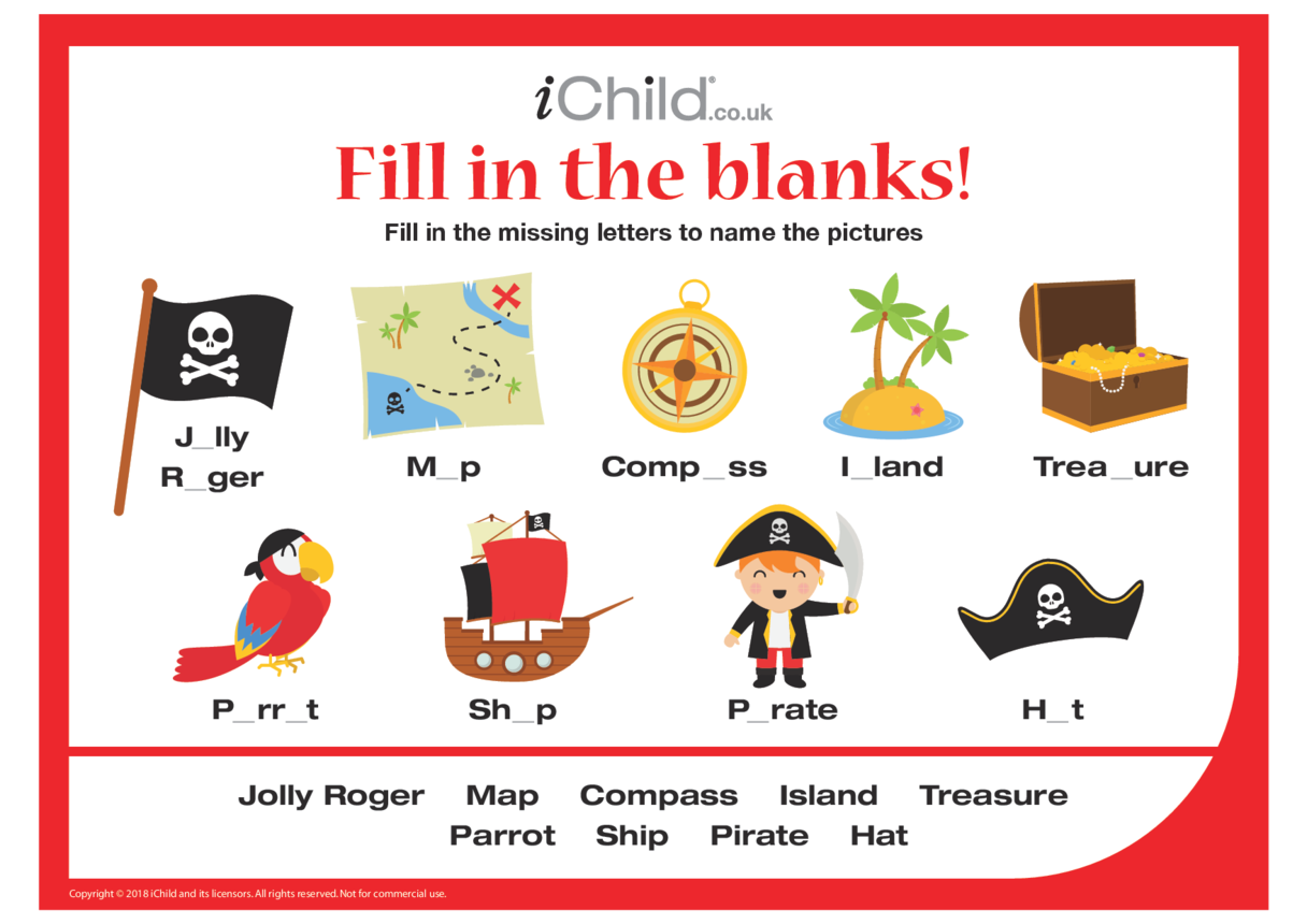 Fill in the blanks - Pirates!