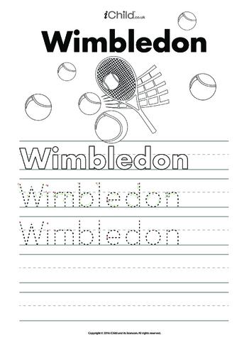 Thumbnail image for the Wimbledon Handwriting Practice Sheet activity.