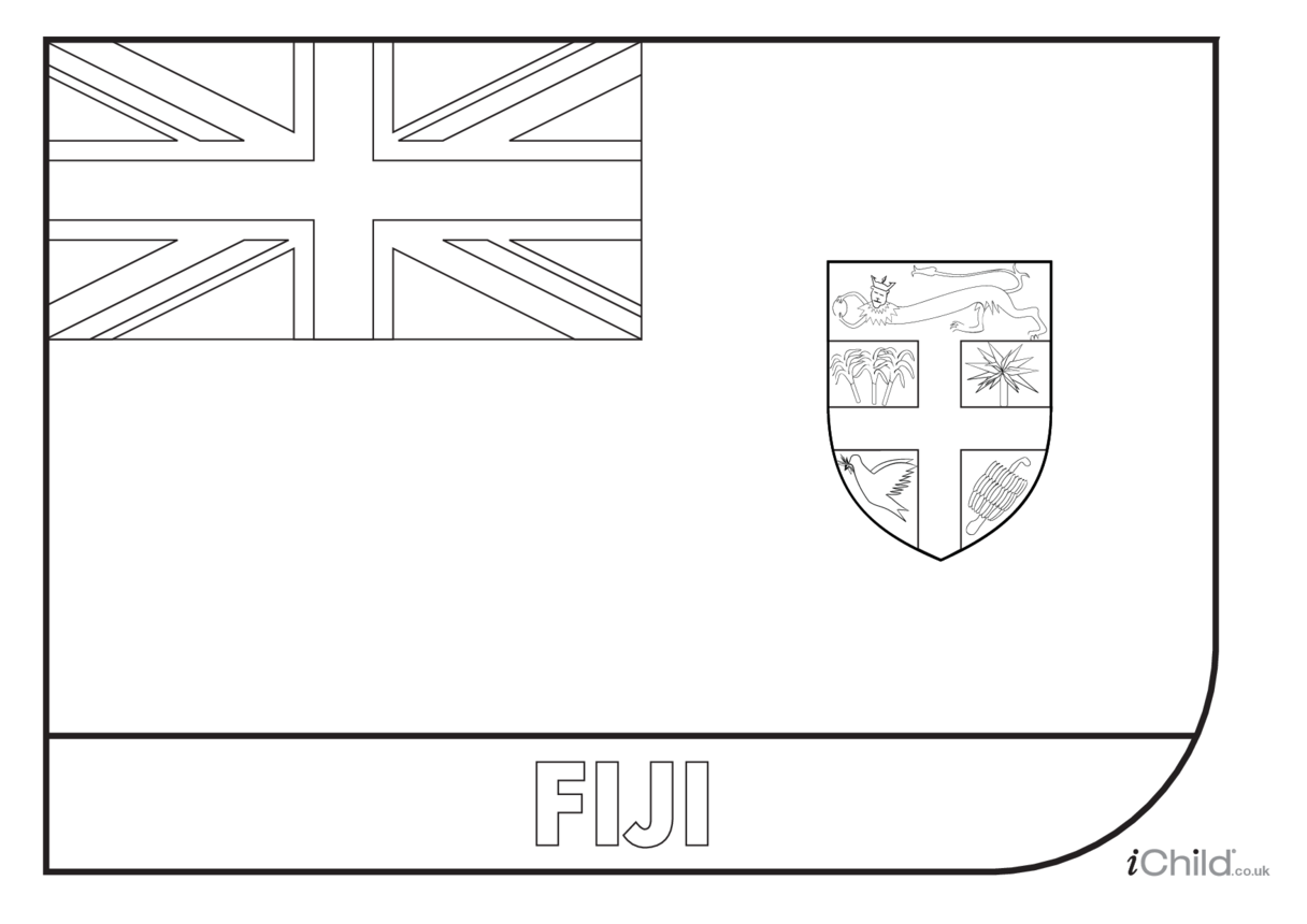 Fiji Flag Colouring in Picture (flag of Fiji)
