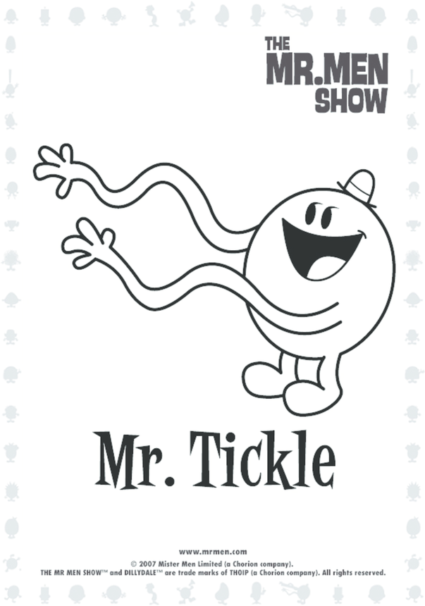 Mr Tickle Colouring in picture