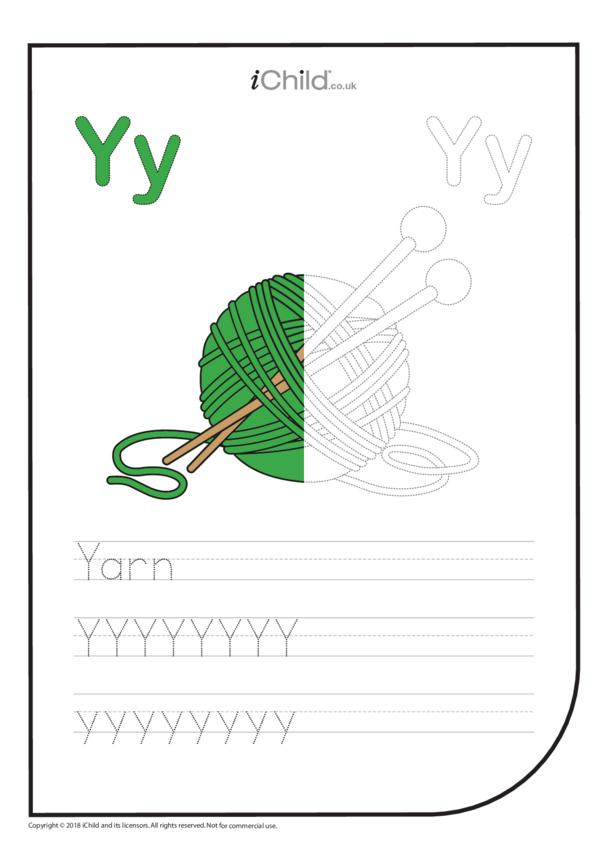 Y: Write the Letter Y for Yarn